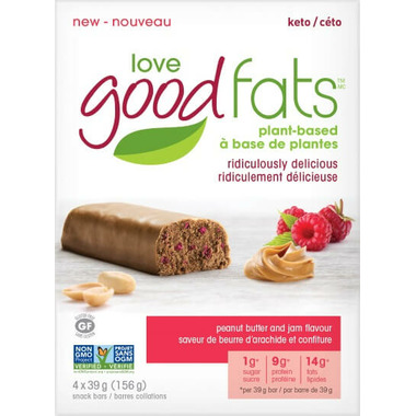 Love Good Fats Peanut Butter and Jam Snack Bar