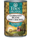 Eden Organic Canned Garbanzo Beans