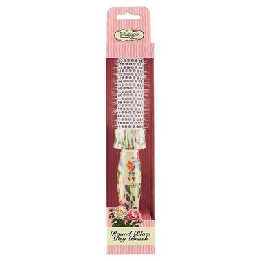 The Vintage Cosmetics Company Round Blow Dry Hair Brush Floral