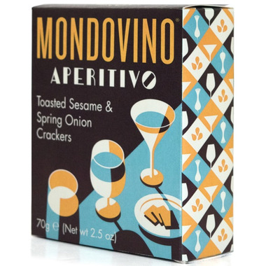 Mondovino Artisan Biscuits Toasted Sesame & Spring Onion Crackers