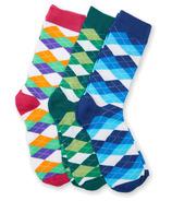 Hatley Men's Crew Sock Set Wild Argyle