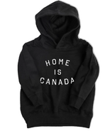 Peace Collective Home is Canada Kids Hoodie Black