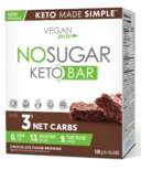 Vegan Pure No Sugar Keto Bar Chocolate Fudge Brownie