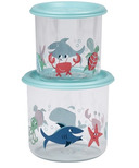 Sugarbooger Good Lunch Snack Containers Large Ocean