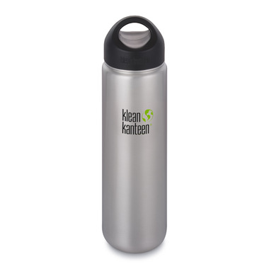 Klean Kanteen Wide Bottle with Wide Loop Cap Brushed Stainless