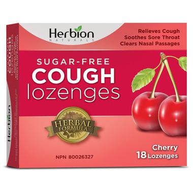 Herbion Sugar Free Cough Lozenges Cherry