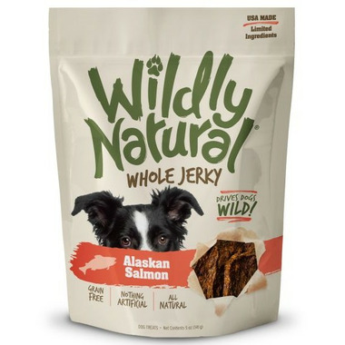 Wildly Natural Whole Jerky Dog Treats Alaskan Salmon
