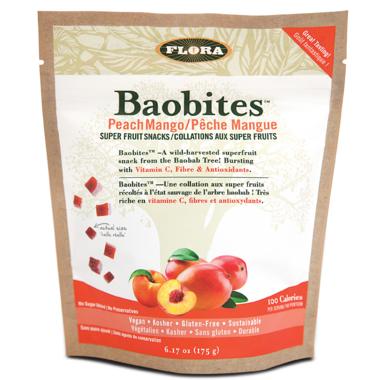 Flora Baobites Super Fruit Snacks Peach Mango