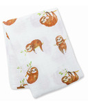 Lulujo Baby Cotton Muslin Swaddle Sloth