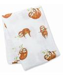 Lulujo Baby Cotton Muslin Swaddle Sloth