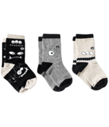 Q for Quinn Organic Cotton Socks Monochrome Monsters