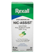 Rexall Nic-Assist Nicotine Gum Extra Strength 4 mg Ice Mint
