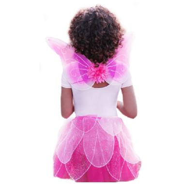 Great Pretenders Fancy Flutter Skirt with Wings and Wand Pink