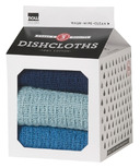 Now Designs Milk Carton Dishcloth Set Indigo, Moonlight & Cool Blue