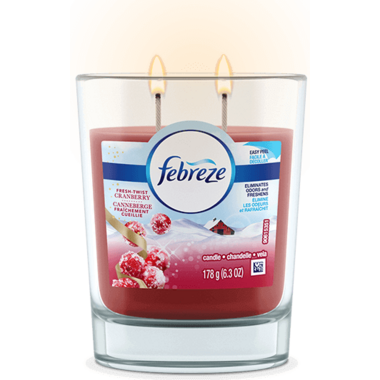 Febreze Candle Air Freshener Fresh-Twist Cranberry