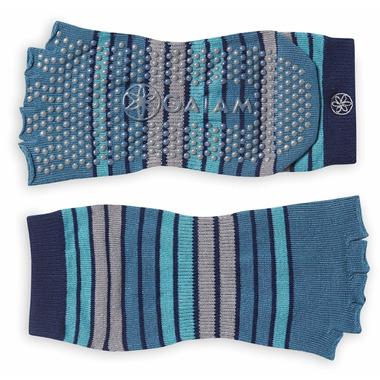 Gaiam Striped Toeless Yoga Socks Skyline