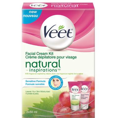 Veet Natural Inspirations Facial Cream Kit for Sensitive Skin