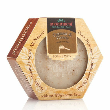 Anointment Natural Skin Care Handcrafted Soap Oatmeal & Honey