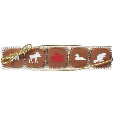 Saxon Chocolates Maple Canadian Animal Caramel Box