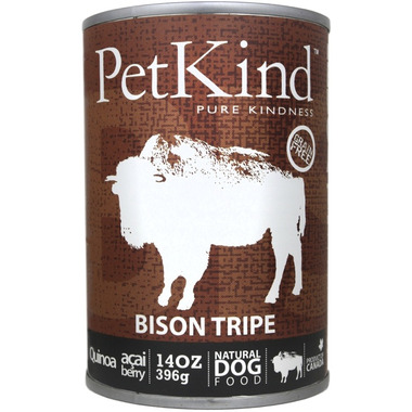 PetKind Bison Tripe Formula Natural Dog Food