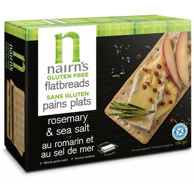 Nairn\'s Gluten Free Flatbreads Rosemary & Sea Salt