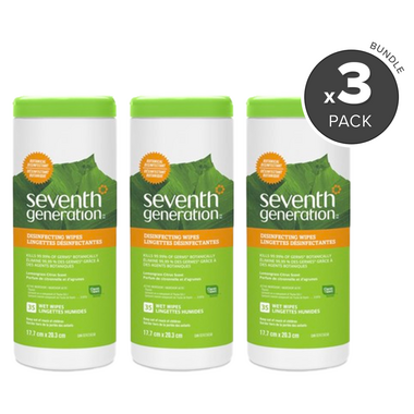 Seventh Generation Multi-Surface Disinfecting Wipes 3 Pack Bundle