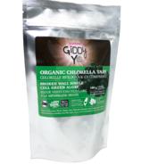 Poudre de chlorella brute biologique Giddy Yoyo (en anglais)
