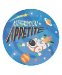 Little Blue House Kids Bamboo Plate Space Cadet