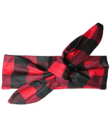 Baby Wisp Top Knot Headband Canadiana Red and Black