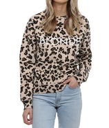 Brunette The Label Blonde Middle Crew Leopard