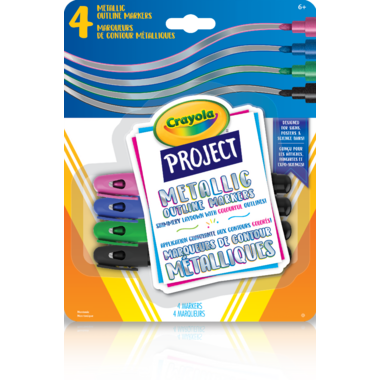 Crayola Project Metallic Outline Markers