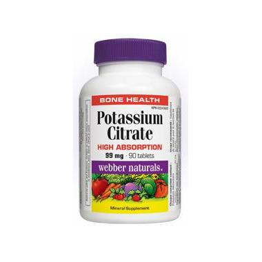 Webber Naturals Potassium Citrate Tablets