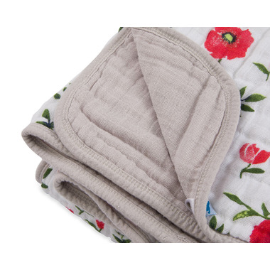 Little Unicorn Cotton Muslin Quilt Summer Poppy