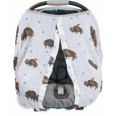 Little Unicorn Cotton Muslin Car Seat Canopy Bison