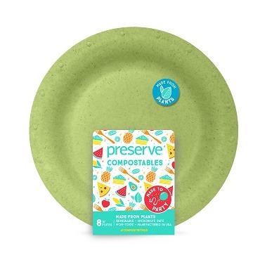 Preserve Compostables Large Plates Green