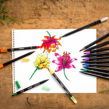 Crayola Signature Brush & Detail Dual Tip Markers