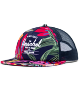 Herschel Supply Whaler Mesh Soft Brim Youth Jungle Floral & Peacoat Peony