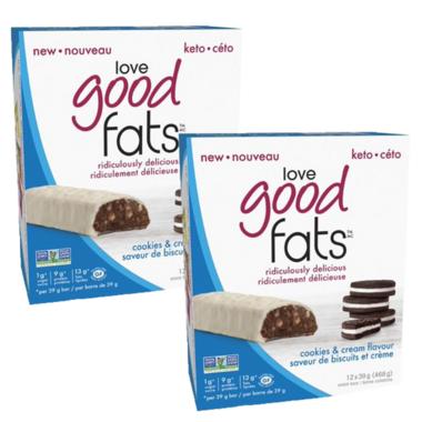 Love Good Fats Cookies & Cream Snack Bar Bundle