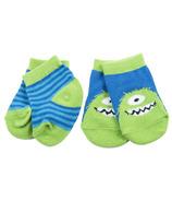 Hatley Little Blue House Baby Socks 2Pack - Monster