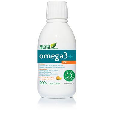 Genuine Health Omega3+ Joy Liquid