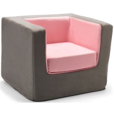 Monte Design Cubino Chair Charcoal & Pink