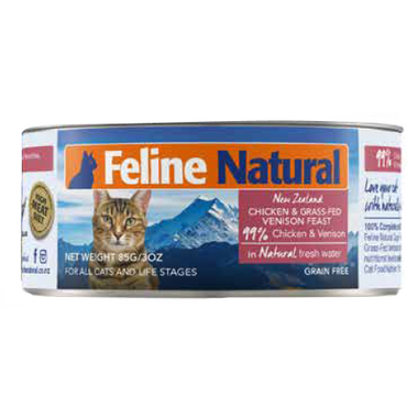 Feline Natural Chicken and Grass-Fed Venison Feast