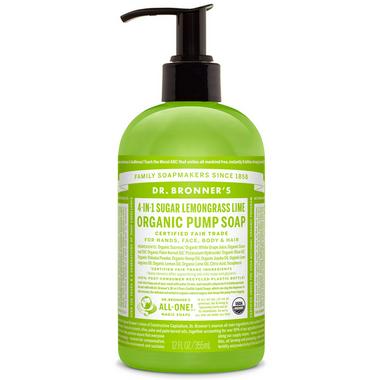 Dr. Bronner\'s 4-in-1 Sugar Lemongrass Lime Organic Pump Soap