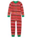 Hatley Little Blue House Kids Union Suit Holiday Stripes