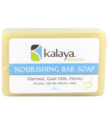 Kalaya Naturals Nourishing Bar Soap with Oatmeal, Goat Milk & Honey