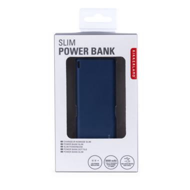 Kikkerland Blue Slim Power Bank