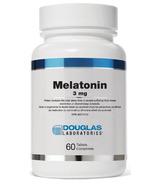 Mélatonine (3 mg.) sublinguale de Douglas Laboratories