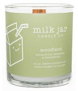 Milk Jar Candle Co. Bougie aux huiles essentielles Woodland