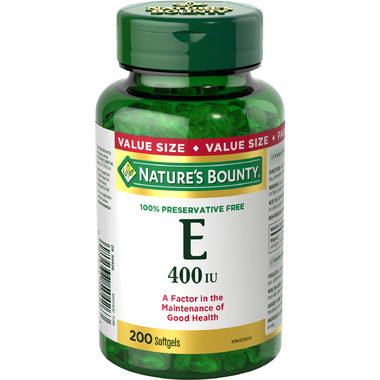 Nature\'s Bounty 100% Preservative Free Vitamin E