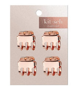 Kitsch Mini Claw Clips Square Set Rose Gold